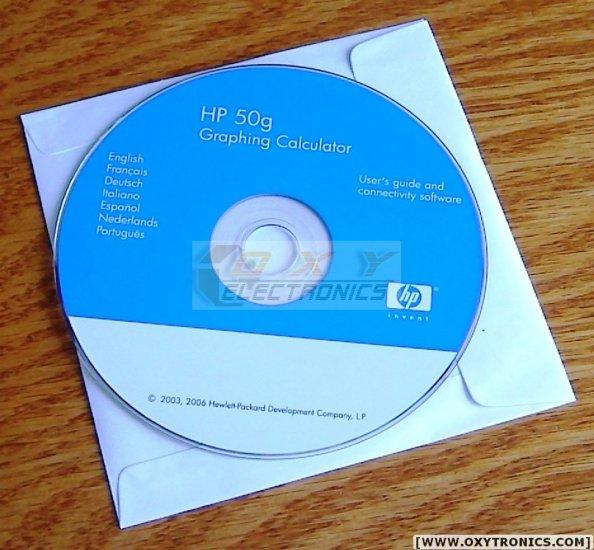 HP 50G Installation CD Software ORIGINAL All Files NEW!