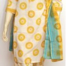 Item#CT1032 Off White & Light Yellow Cotton Salwar Kameez