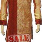 Item#ED1030 Brown and beige color churidar salwar kameez