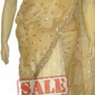 Item#SR1022 Cream color half n half saree (WAS-$170, NOW-$99)