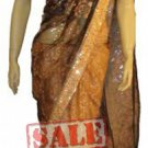 Item#SR1027 Peach color half n half saree