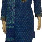 Item # CT10142 Blue and paste color Cotton block salwar kameez