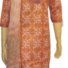Item # CT10133 White and base color cotton block salwar kameez.