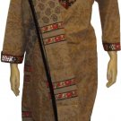 Item # CT10141 Ligh brown and black cotton salwar kameez .