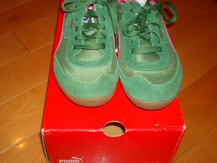 Green and Pink Puma's