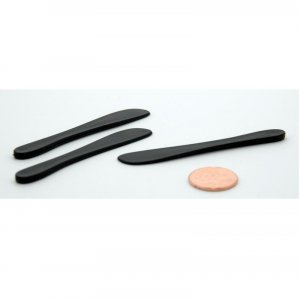 Pack of 100 Rounded Tip Plastic Cosmetic Spatula Black