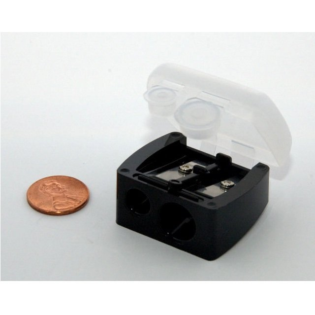 5-pack Black Dual Cosmetic Pencil Sharpener With Cover