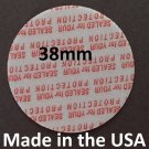 Pack of 100 Press and Seal Cap Liners - 38mm USA std size Foam Safety Tamper Seals