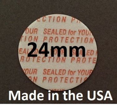 Pack of 200 Press and Seal Cap Liners - 24mm Foam Safety Tamper Seals