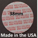 Pack of 200 Press and Seal Cap Liners - 38mm USA std size Foam Safety Tamper Seals