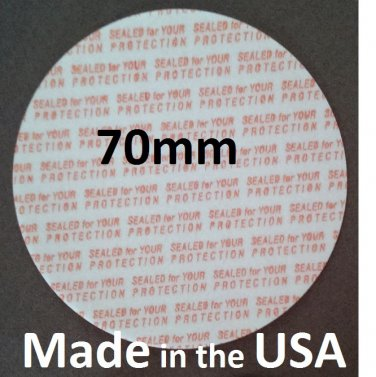 Pack of 200 Press and Seal Cap Liners - 70mm Foam Safety Tamper Seals