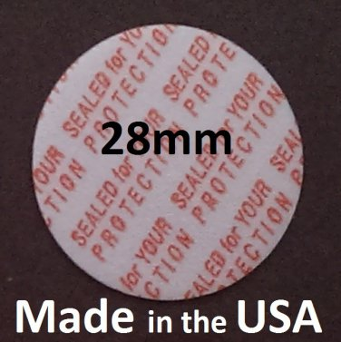 Pack of 200 Press and Seal Cap Liners - 28mm Foam Safety Tamper Seals