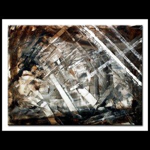 ORIGINAL PAINTING- Large Abstract Art Brown tan 30x40