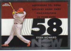 2007 Topps Chrome Generation Now  #208 Ryan Howard   Phillies