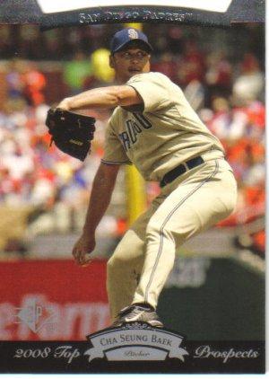 2008 Upper Deck Timeline  #185 Cha Seung Baek   Padres