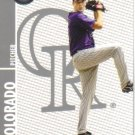 2008 Topps Co-Signers  #8 Jeff Francis   Rockies