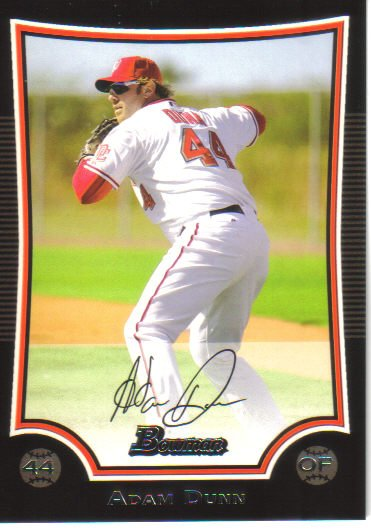 2009 Bowman  #24 Adam Dunn   Nationals