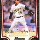 2009 Bowman  #83 Justin Duchscherer   A's