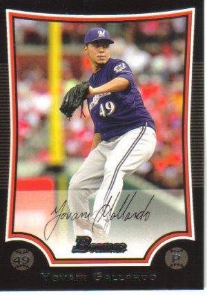 2009 Bowman  #106 Yovani Gallardo   Brewers