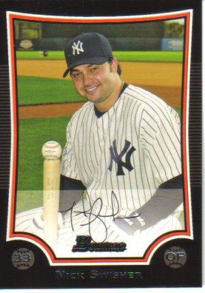 2009 Bowman  #124 Nick Swisher   Yankees