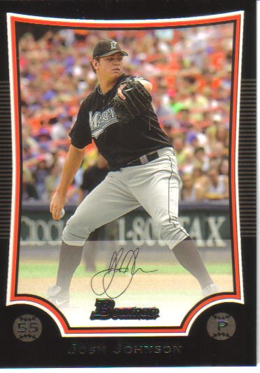 2009 Bowman  #130 Josh Johnson   Marlins
