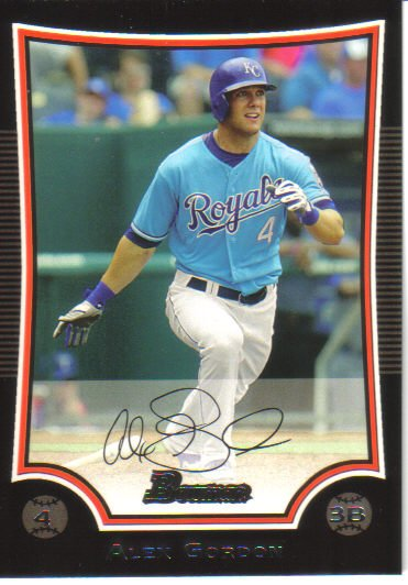 2009 Bowman  #134 Alex Gordon   Royals