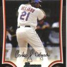 2009 Bowman  #136 Carlos Delgado   Mets