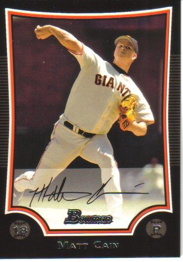 2009 Bowman  #171 Matt Cain   Giants