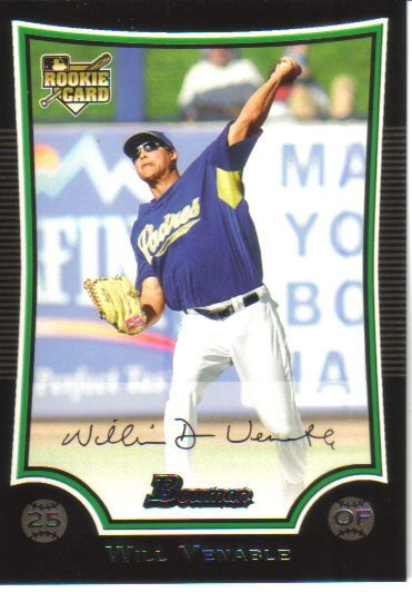 2009 Bowman  #218 Will Venable  RC  Padres