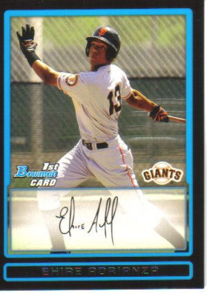 2009 Bowman Prospects  #16 Ehire Adrianza   Giants