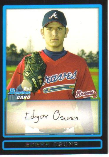 2009 Bowman Prospects  #33 Edgar Osuna   Braves