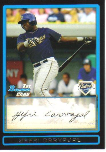2009 Bowman Prospects  #51 Yefri Carvajal   Padres