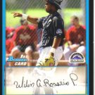 2009 Bowman Prospects  #58 Wilin Rosario   Rockies