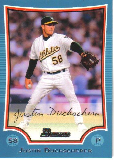 2009 Bowman Blue  #83 Justin Duchscherer   A's  /500