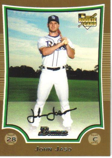 2009 Bowman Gold  #203 John Jaso  RC  Rays