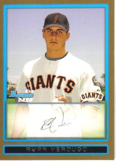 2009 Bowman Prospects Gold  #78 Ryan Verdugo   Giants