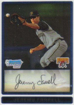 2009 Bowman Prospects Chrome  #28 Jeremy Farrell   Pirates