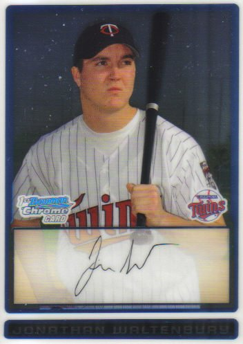 2009 Bowman Prospects Chrome  #32 Jonathan Waltenbury   Twins
