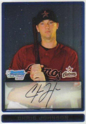 2009 Bowman Prospects Chrome  #48 Chris Johnson   Astros