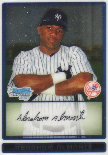 2009 Bowman Prospects Chrome  #49 Abraham Almonte   Yankees