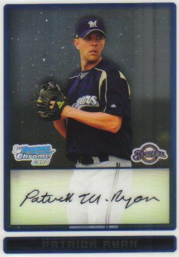 2009 Bowman Prospects Chrome  #50 Patrick Ryan   Brewers