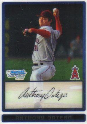 2009 Bowman Prospects Chrome  #57 Anthony Ortega   Angels