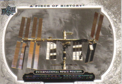 2008 Upper Deck Piece of History  #193 International Space Station   Historical Moments