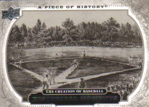 2008 Upper Deck Piece of History  #198 Creation of Baseball   Historical Moments