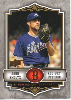 2009 Upper Deck Piece of History  #6 John Smoltz   Red Sox