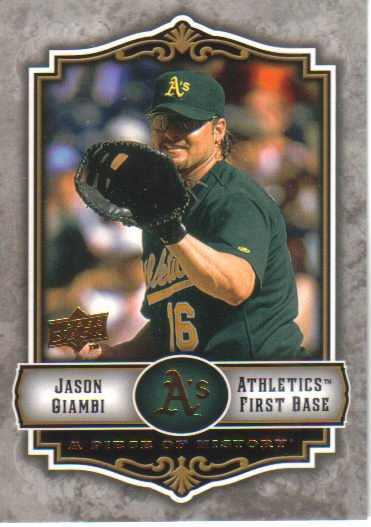 2009 Upper Deck Piece of History  #70 Jason Giambi   A's