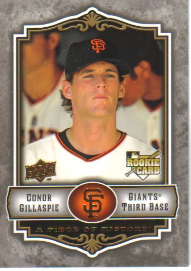 2009 Upper Deck Piece of History  #102 Conor Gillaspie  RC  Giants