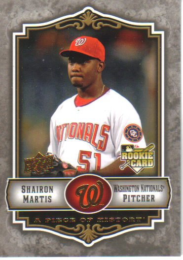 2009 Upper Deck Piece of History  #125 Shairon Martis  RC  Nationals