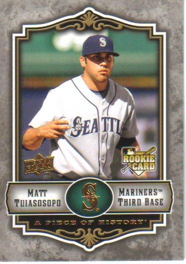 2009 Upper Deck Piece of History  #135 Matt Tuiasosopo  RC  Mariners