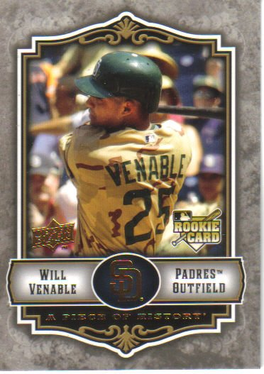2009 Upper Deck Piece of History  #136 Will Venable  RC  Padres